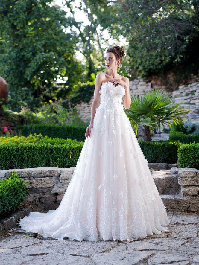 Suknia ślubna Annalisa Limerence Hadassa Koronkowe Otwarte Z Tyłu