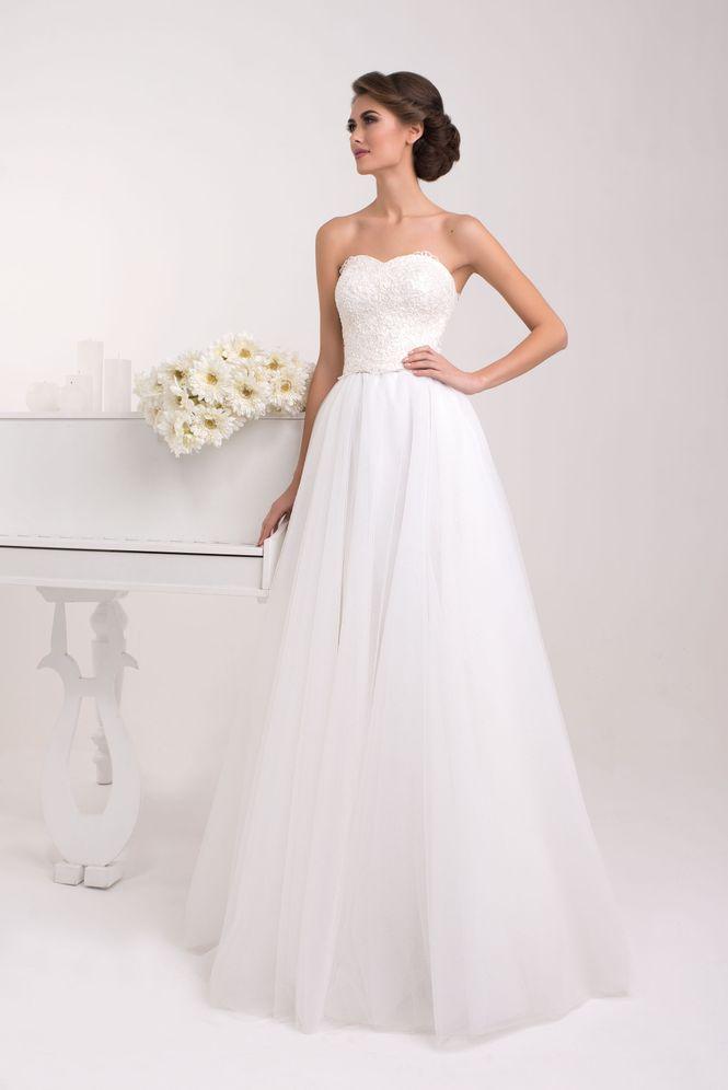Suknia ślubna Meilen Gruby Cut Gorset Z Skomplikowanych Wzorów