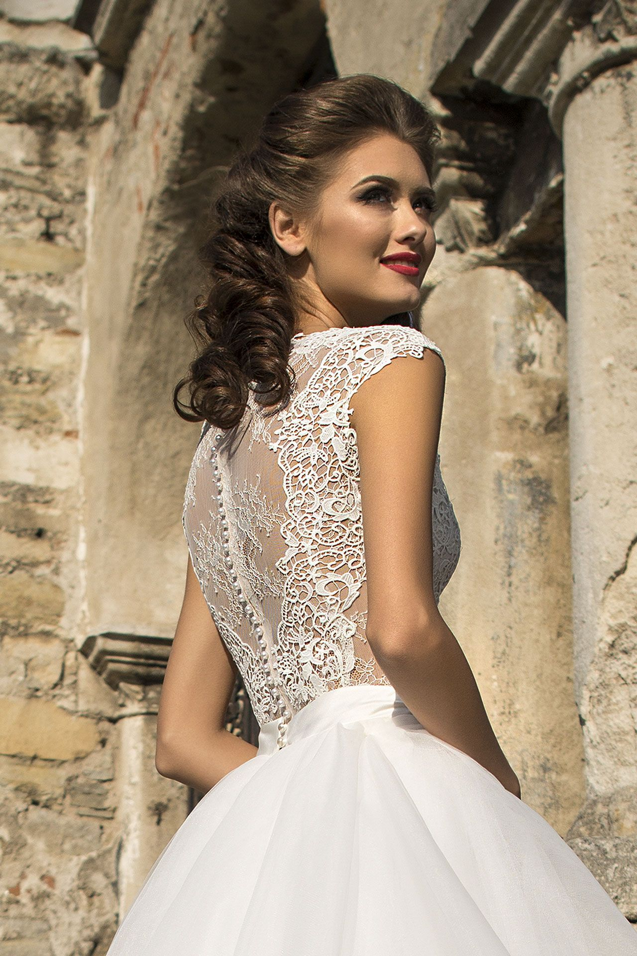 Wedding Dress Rosabella Fluffy Skirt Of Tulle With Royal